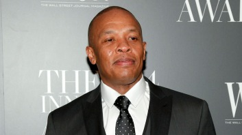 """FILE - In this Nov. 5, 2014 file photo, Dr. Dre attends the WSJ. Magazine 2014 Innovator Awards at MoMA in New York. The 50-year-old rap mogul announced a new radio show on Friday, July 3, 2015, called """"The Pharmacy,"""" which premieres Saturday. The hour-long show dedicated to West Coast music will stream every other Saturday. (Photo by Andy Kropa/Invision/AP, File)"""